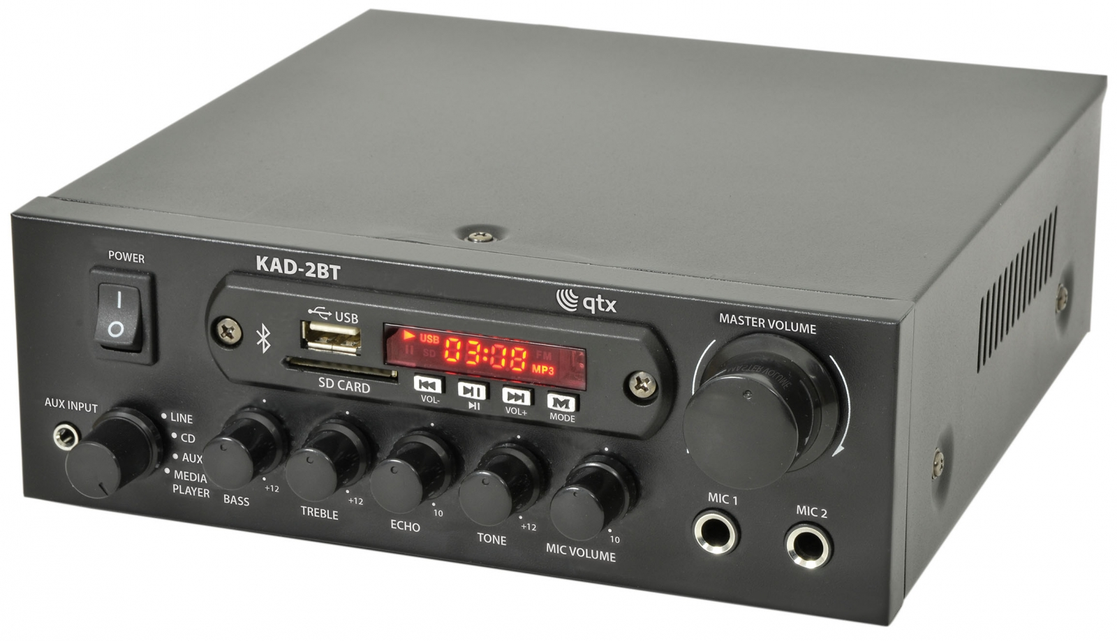 QTX KAD-2BT Amplifier USB/FM/BT 50W 103.122UK