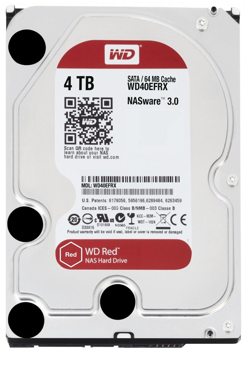 Western Digital RED 4TB HDD SATA 3.5'' NAS WD40EFRX