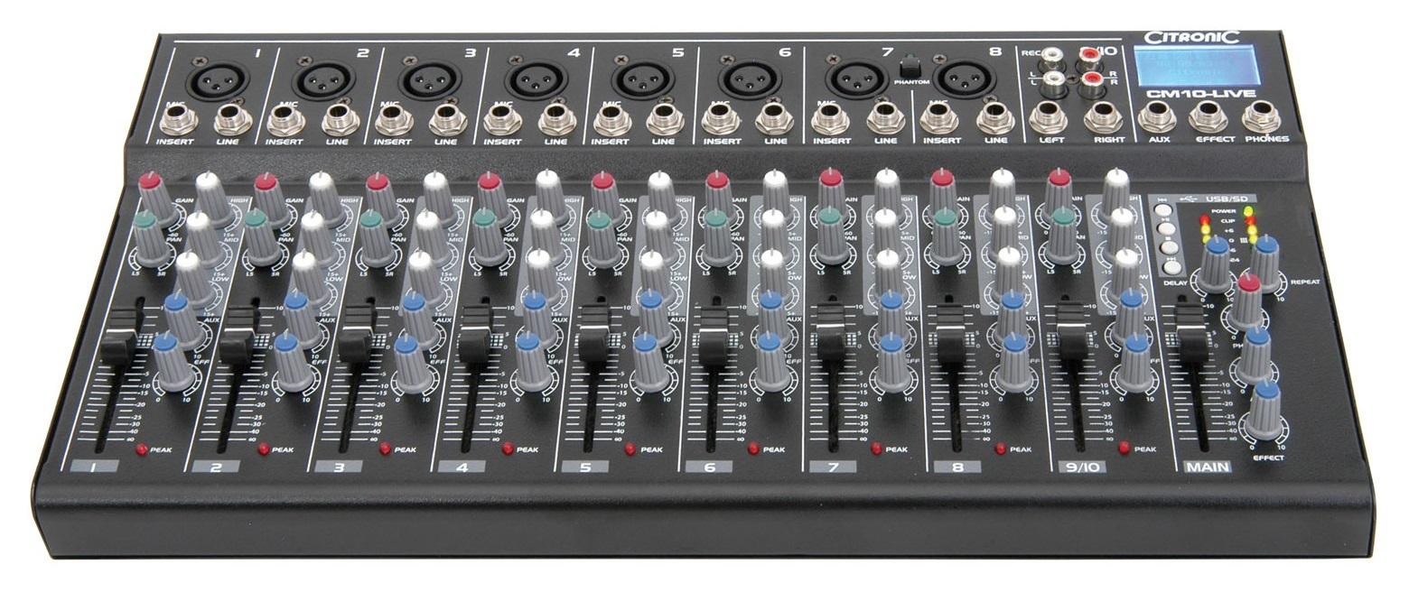 Citronic CM10LIVE Compact Mixer 10ch+USB 170.803UK