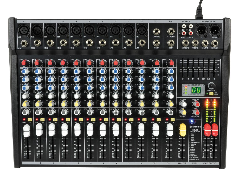 Citronic CSL-14 v2 Mixing Console 14 inputs 170.855UK
