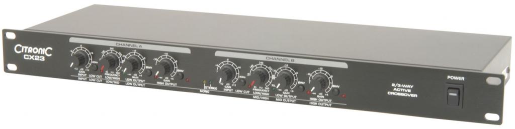 Citronic CX23 2/3-way crossover 1U 170.929UK