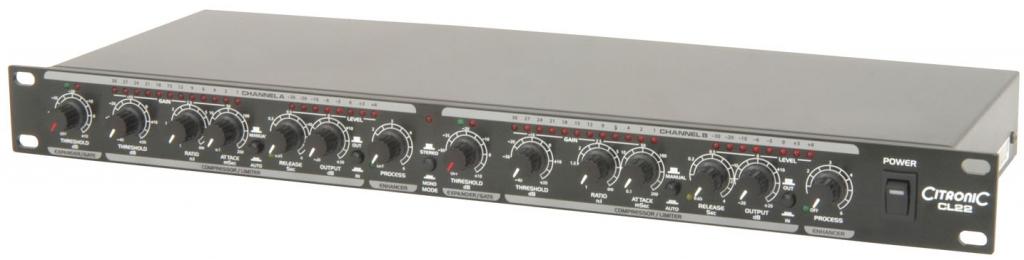 Citronic CL22 Stereo Compressor/Limiter 170.935UK