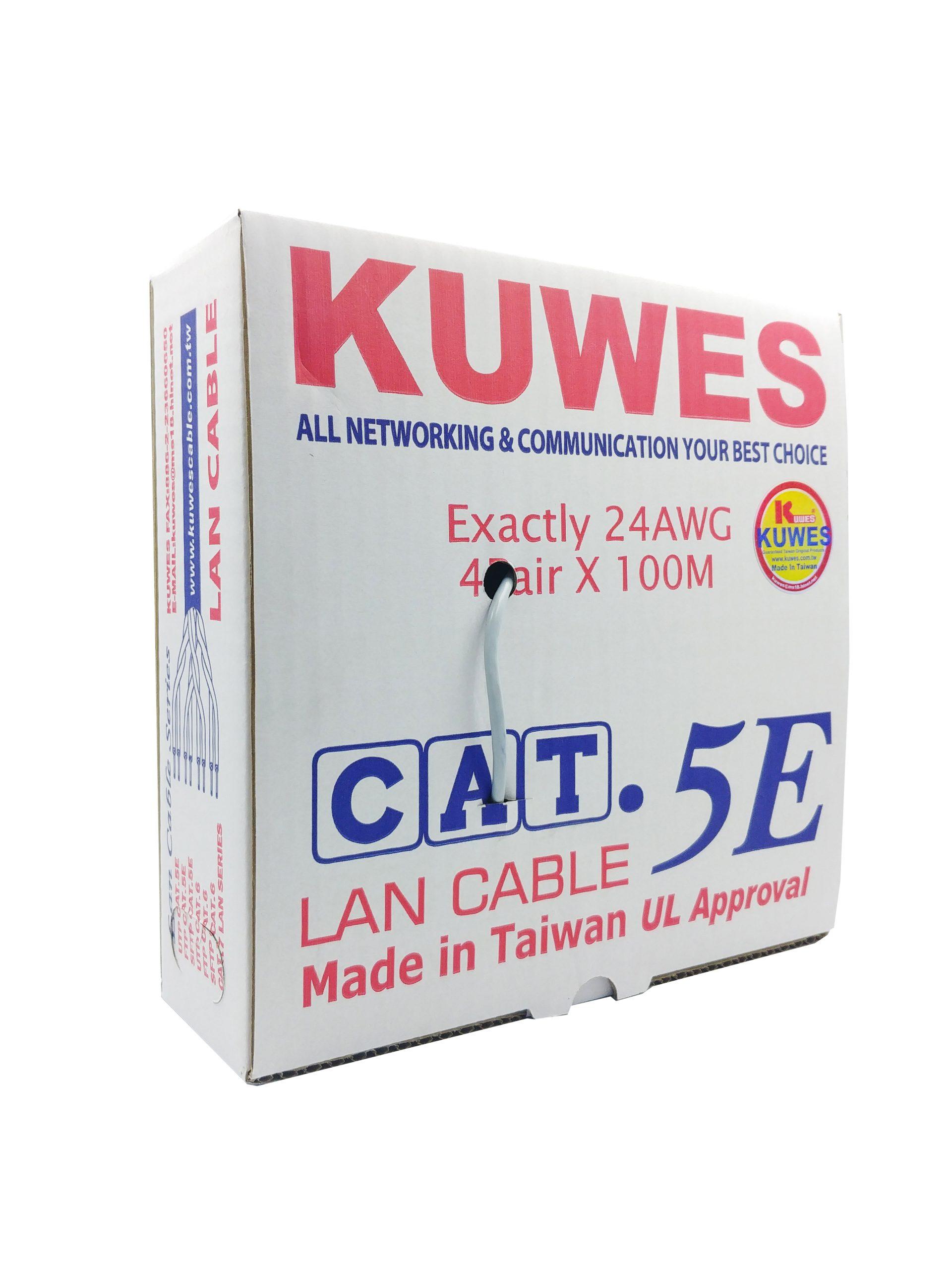 Kuwes CAT5E Plus UTP Pure Copper Cable 100m