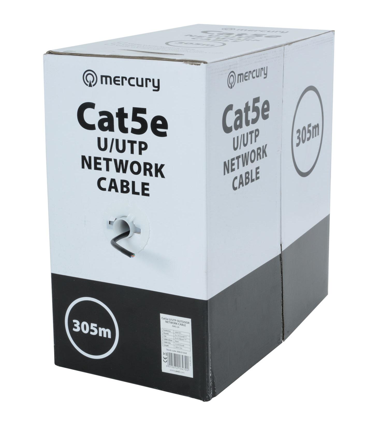 Mercury CAT5e Outdoor Cable CU UTP 305m 808.010UK