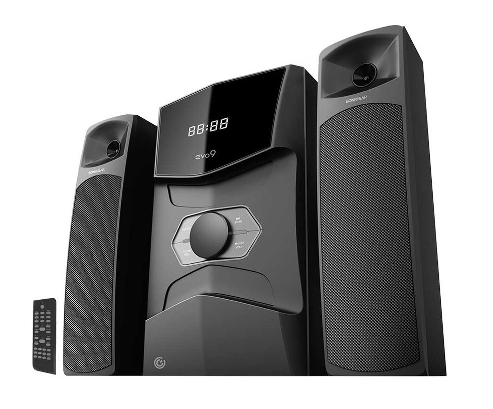 SonicGear Evo9 2.1 USB/BT/FM/LED Speakers 120W