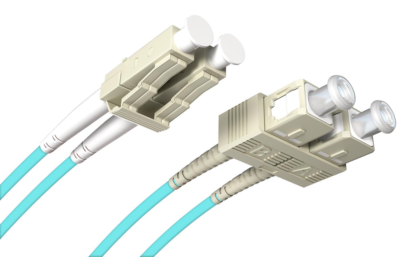 Fiber Patchcord LC/UPC-SC/UPC OM3 MM Duplex 2.0m
