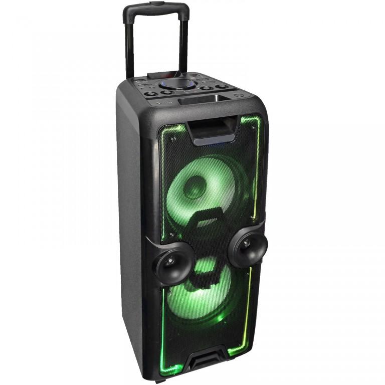 "iDance MEGABOX2000 2x10"" Portable PA Speaker BT/USB/FM/LED"
