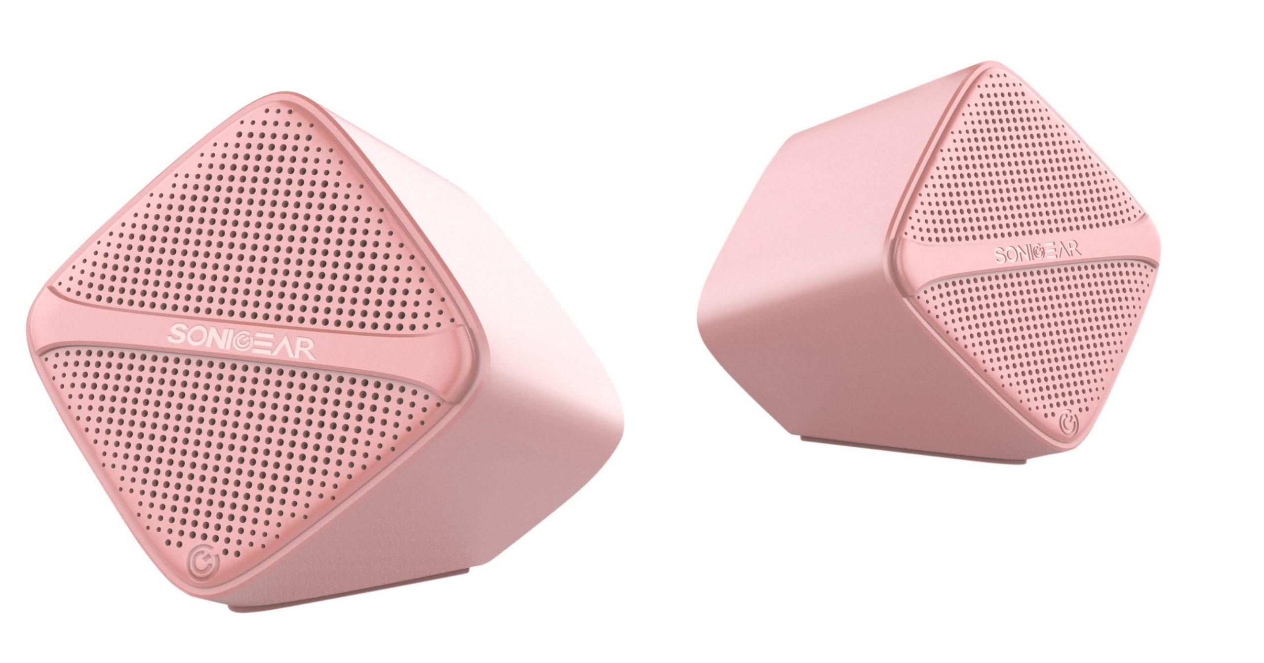 SonicGear SonicCube 2.0 USB PC Speakers Peach 12W