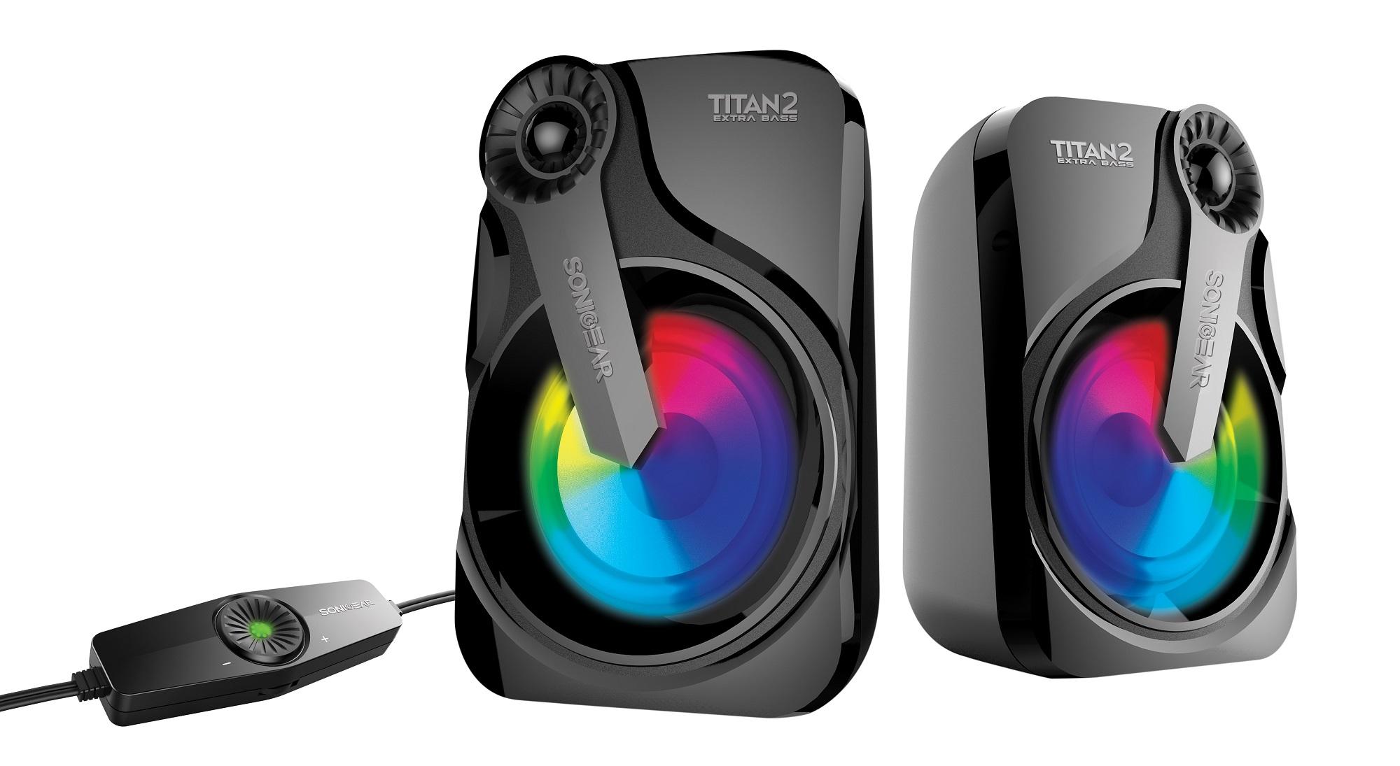 SonicGear Titan2 2.0 USB Speakers 12W 7LFX