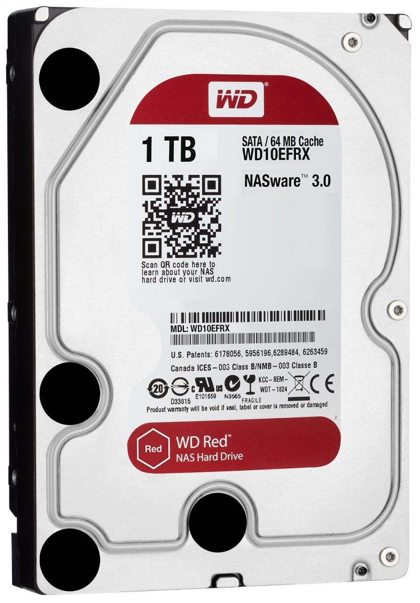 Western Digital RED 1TB HDD SATA 3.5'' NAS WD10EFRX