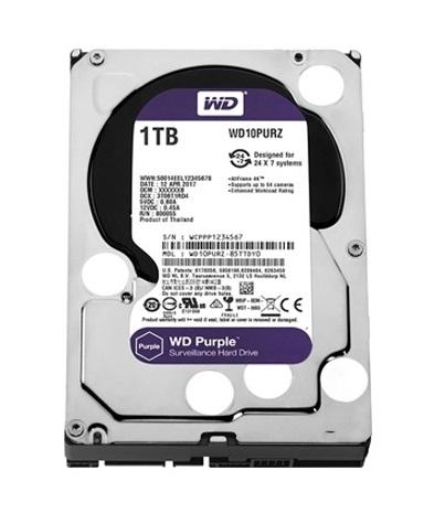 Western Digital 1TB HDD SATA 3.5'' CCTV Purple Series