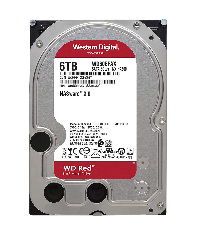 Western Digital RED 3.5'' NAS HDD 6TB WD60EFAX