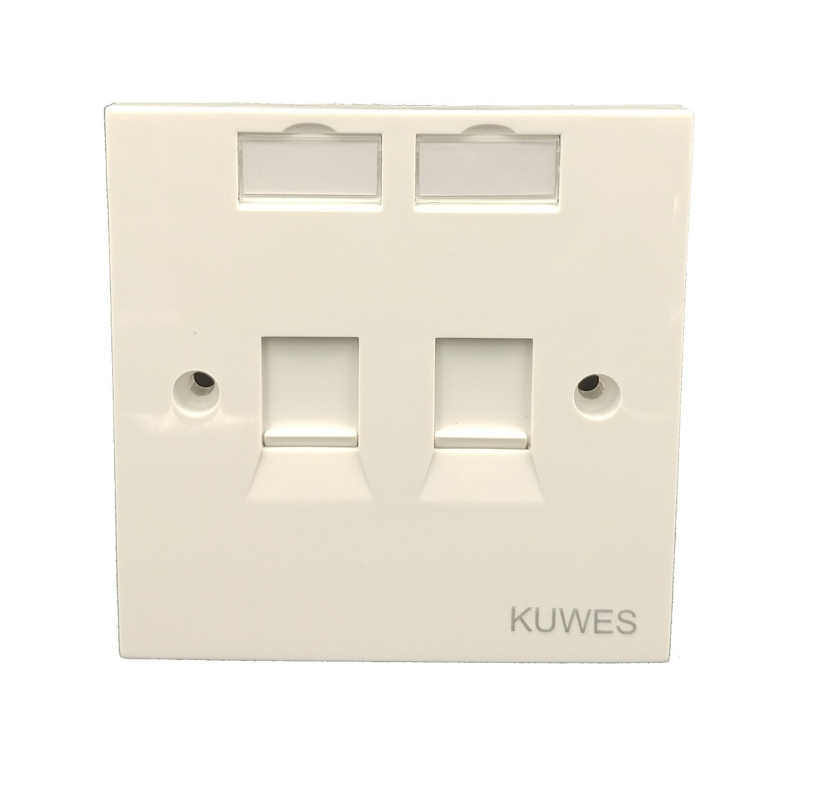 Kuwes UK Double Outlet Faceplate 86x86mm