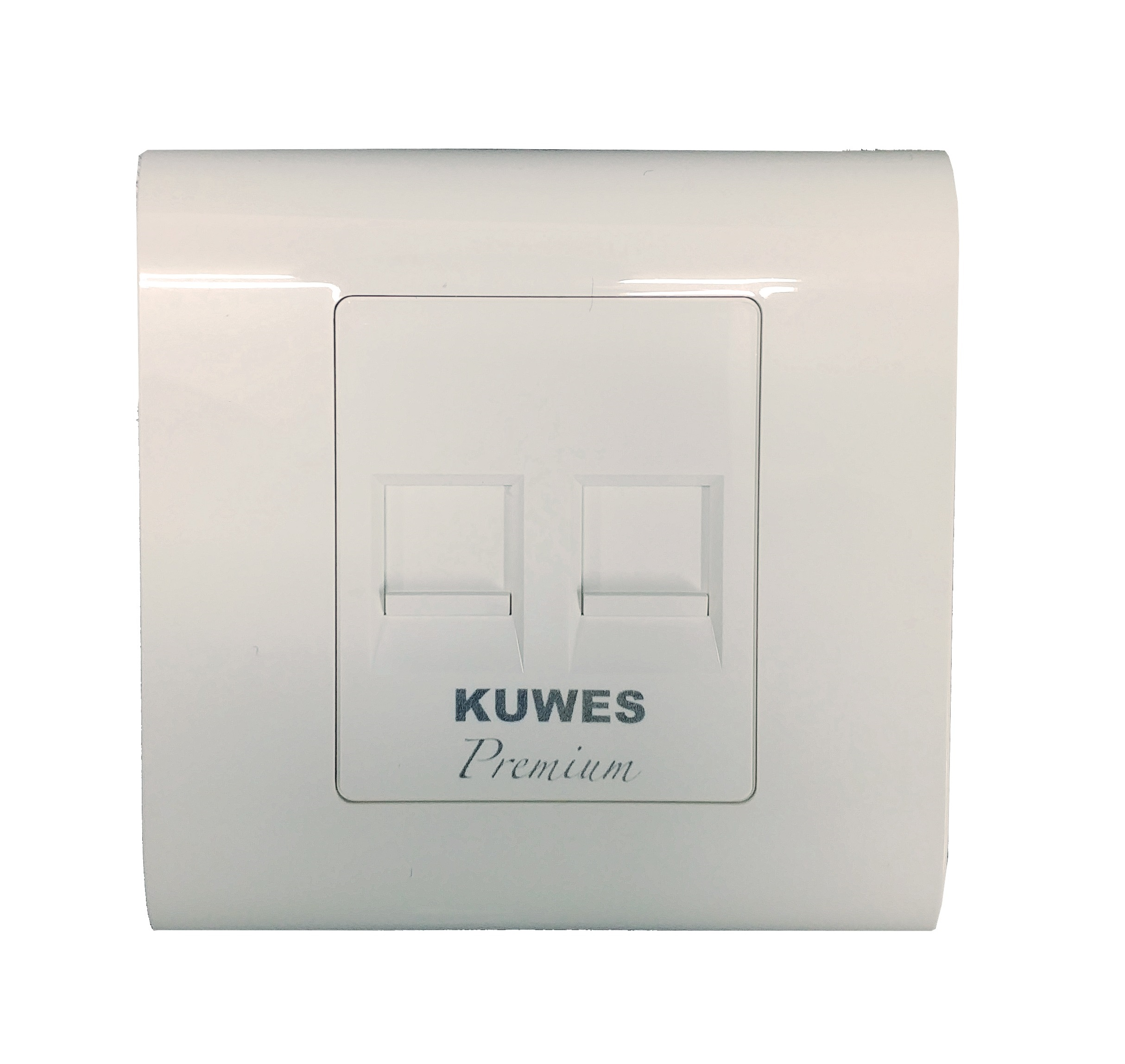 Kuwes Outlet Double Faceplate UK 86x86mm
