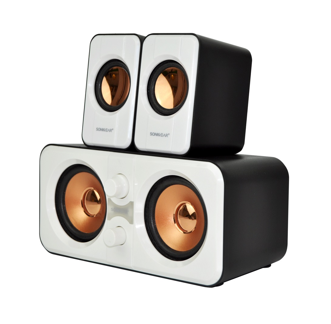 SonicGear Morro2200 2.2 USB Powered PC Speakers White 32W
