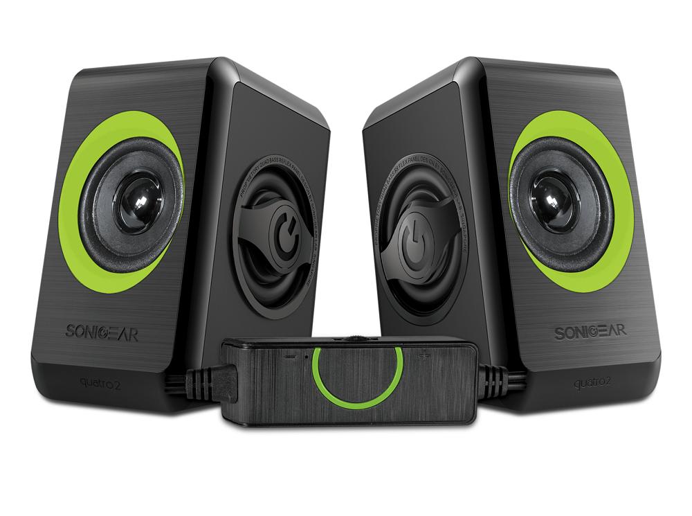 Sonicgear Quatro2 2.0 USB Powered PC Speakers Green 12W
