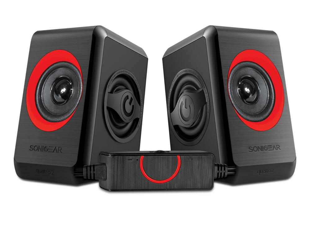 Sonicgear Quatro2 2.0 USB Powered PC Speakers Red 12W