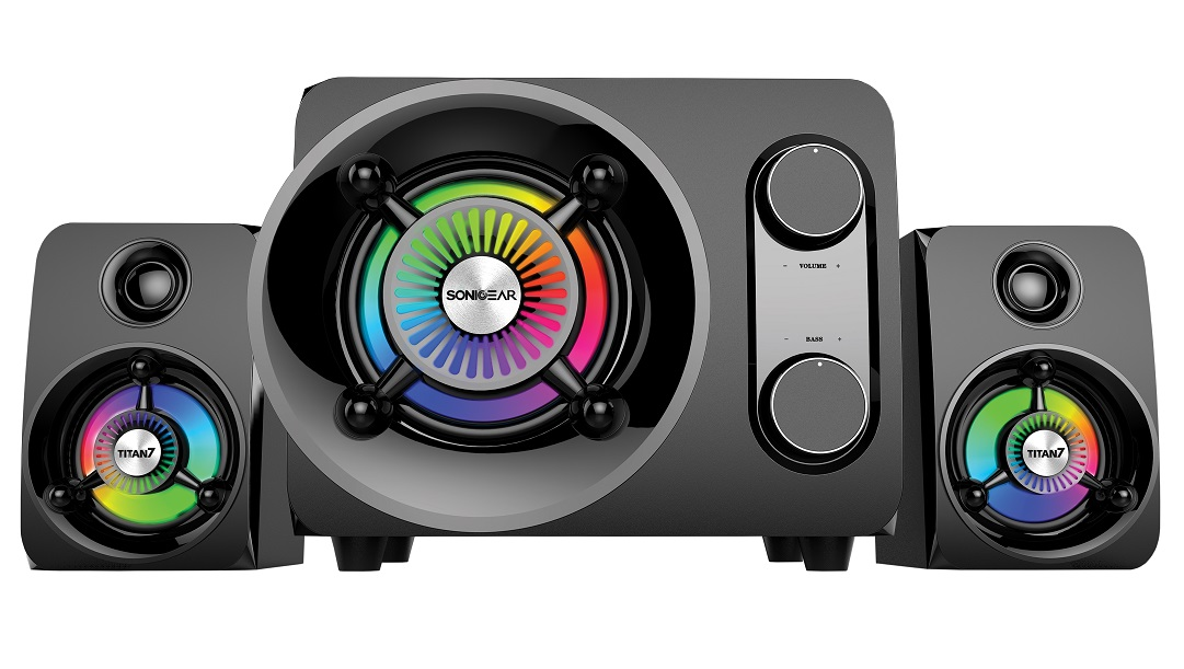 SonicGear Titan7 PRO 2.1 PC Speakers BT/USB/FM/LED 50W