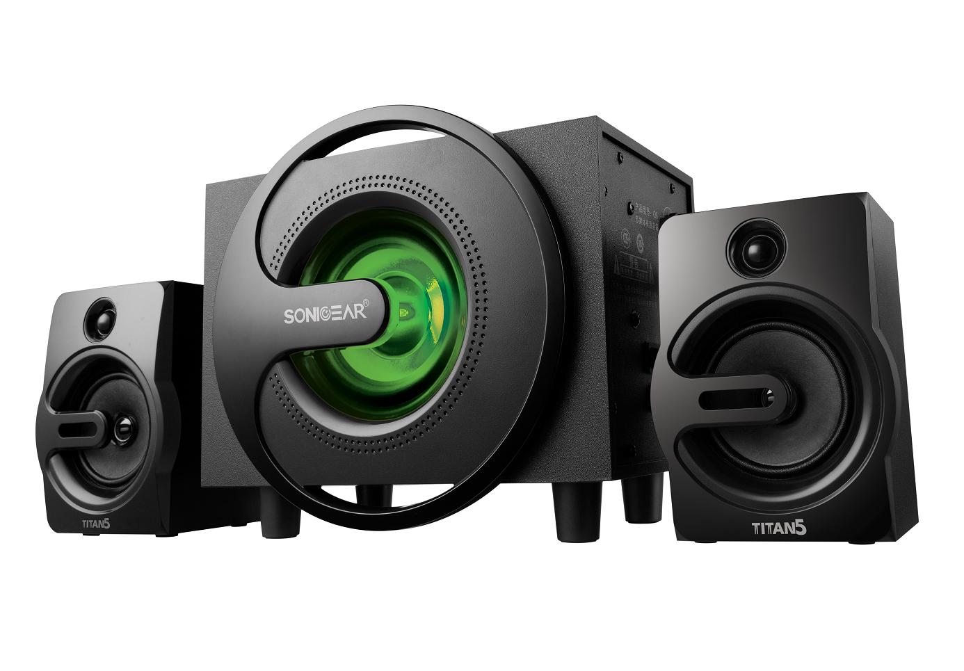 SonicGear Titan5 2.1 PC Speakers BT/USB/FM/LED 40W