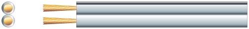 Mercury Economy Speaker Cable 2 x 2.5mm White 100m 807.055UK