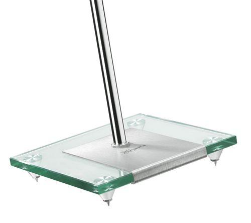 Vogels VLSGLASS Loudspeaker Floorstand Glass Silver