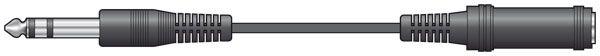 Av:link 6.3mm Stereo Extention cable 6.0m 106.262UK (Blister)