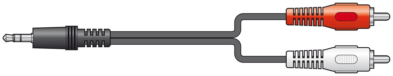 AV:link 3.5mm to 2RCA 10.0m 112.068UK