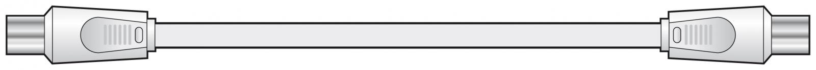 AV:link Coaxial Plug to Plug 1.0m 112.002UK