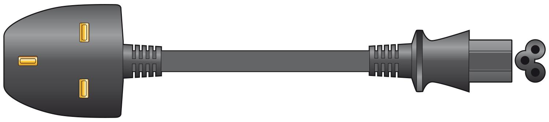 Mercury Laptop Power Cable Black 3A 1m 114.041UK