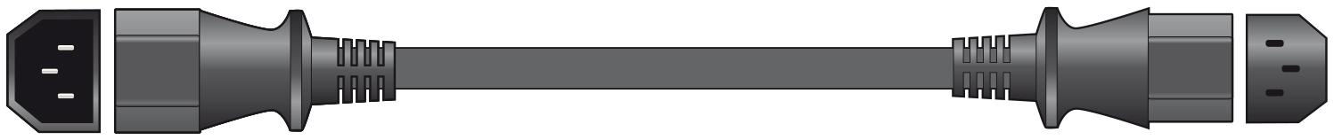 Mercury IEC Extention Lead 0.5m Bag 114.049UK