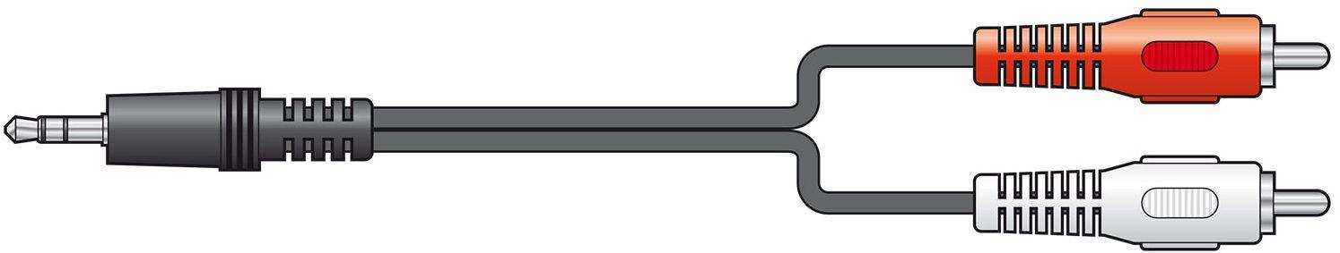 AV:link 3.5mm to 2RCA 1.5m 115.064UK