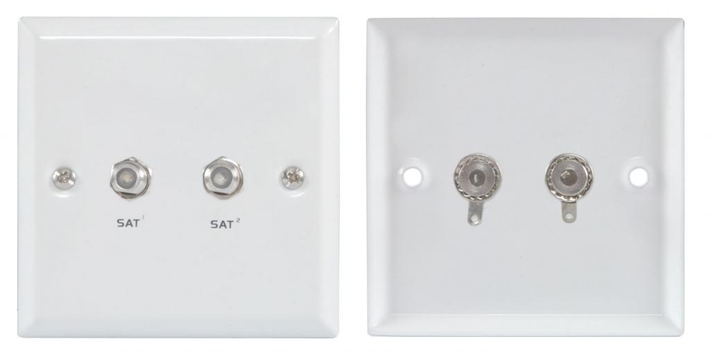 Av:link Wallplate 2xF-Connector 122.286UK (White)