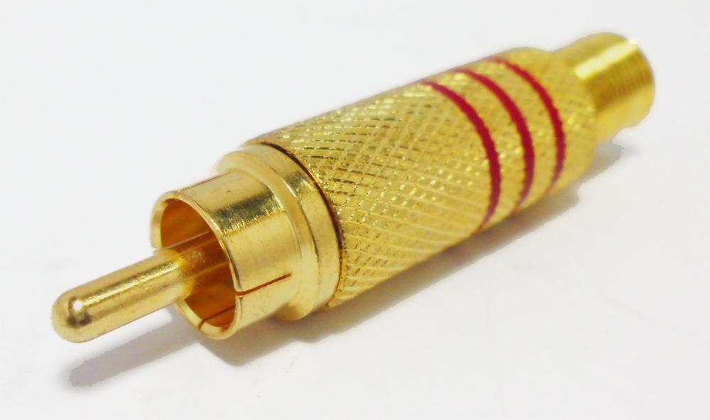DigitMX DMX-RCAR RCA Plug Gold Red