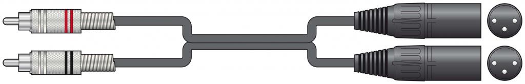 Chord Classic 2XLRM-2RCA 3.0m 190.059UK