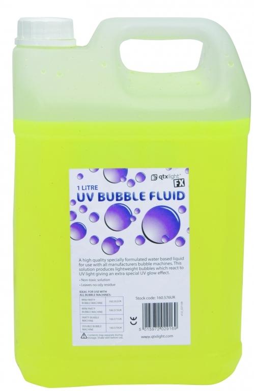 QTX Ultra Violet (UV) Bubble Fluid 5L 160.577UK