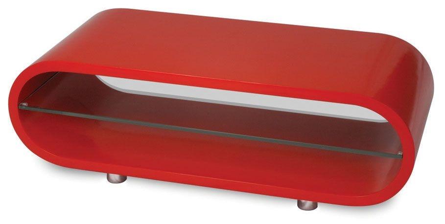 Techlink OV95R Ovid TV/HiFi Rack Red