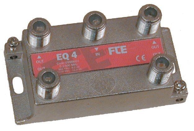 FTE EQ4 Splitter 1-4 5-2400mhz flat