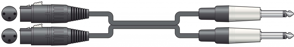 Chord Classic 2 XLRF - 2 x 6.3 mm 3.0m 190.040UK