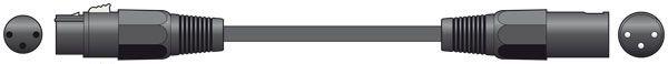 Chord Classic XLR M-F 1.5m Black 190.090UK