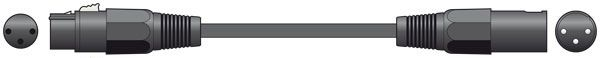 Chord Classic XLR M-F 3.0m Black  190.096UK