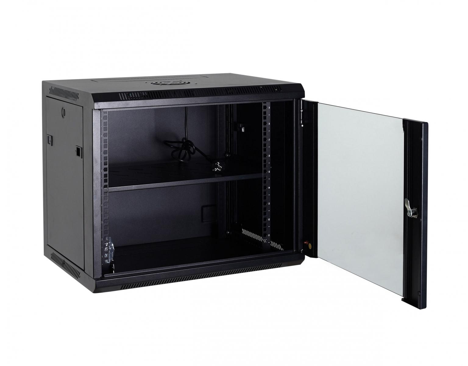 DigitMX NETPRO NP-C18U60W2F 19'' Wall Rack 18U 60cm with fan