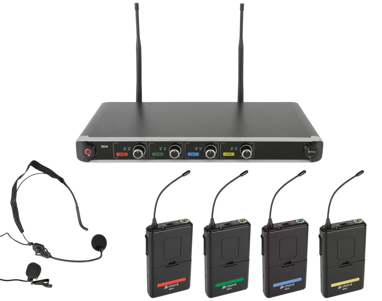 Chord NU4-N Quad UHF System-Neck/Lapel 171.844UK