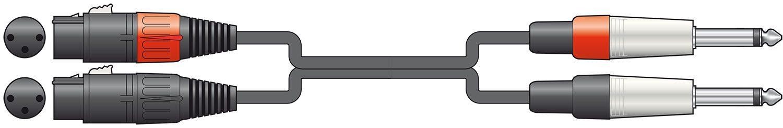 Chord Classic 2XLRF - 2x6.3mm 6.0m 190.041UK