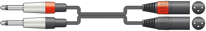 Chord Classic 2XLRM-2x6.3MM 0.75m 190.033UK