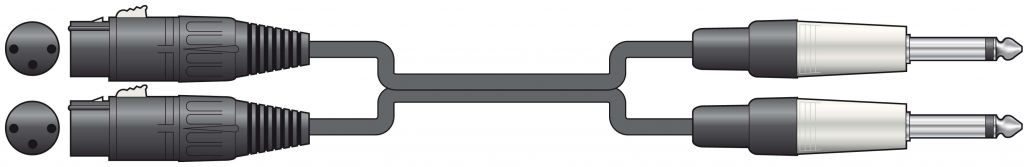 Chord Classic 2XLRF- 2x6.3MM 1.5m 190.039UK