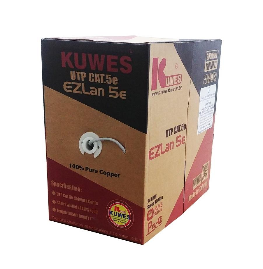 Kuwes CAT5E Plus UTP Pure Copper Cable 305m