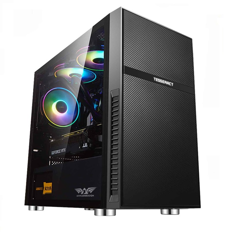 Armaggeddon TESSERACT Core 2 Gaming Case With 2 FREE Saber Chroma Dual Fans