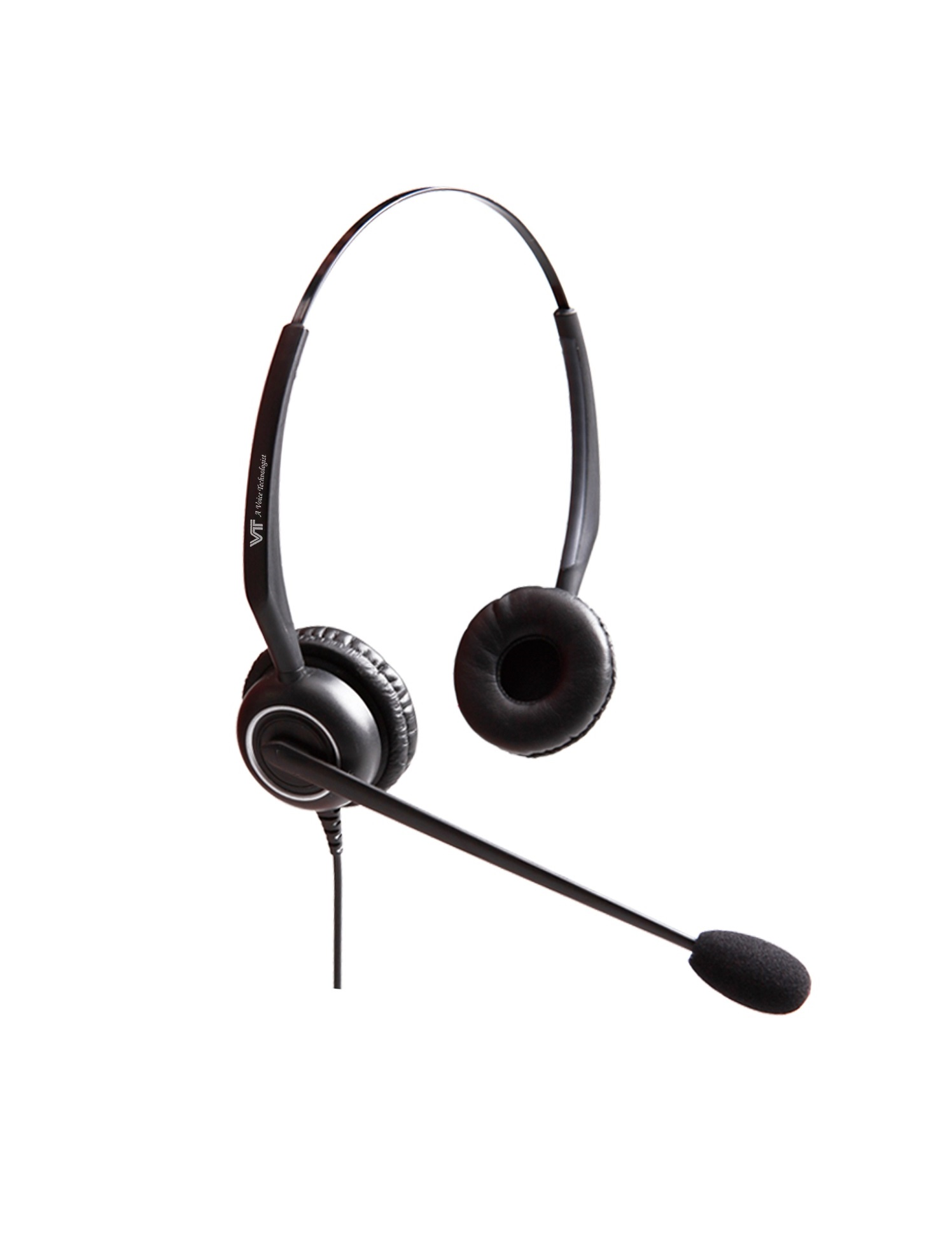 VT 5000UNC-D Dual-Ear IP Phone Headset with RJ9 QD Cable