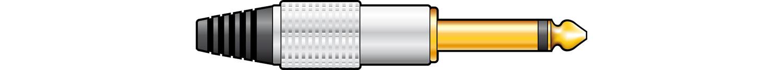 QTX 6.3mm Mono Plug Gold plated 750.165UK