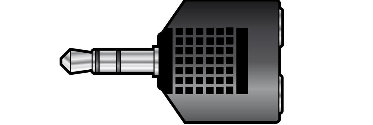 qtx 3.5mm Plug to 2x3.5mm Sockets 759.307UK